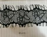 Black narrow lace trim for cloths