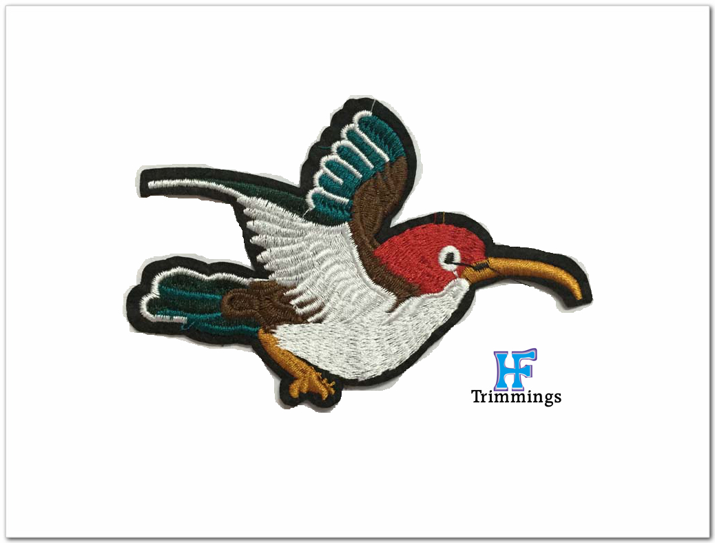 Custom embroidered patch / applique in animal shape used for clothing
