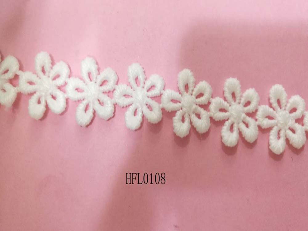 Daisy flower narrow design lace