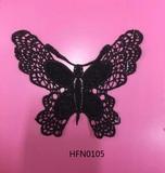 Butterfly shape crochet trim