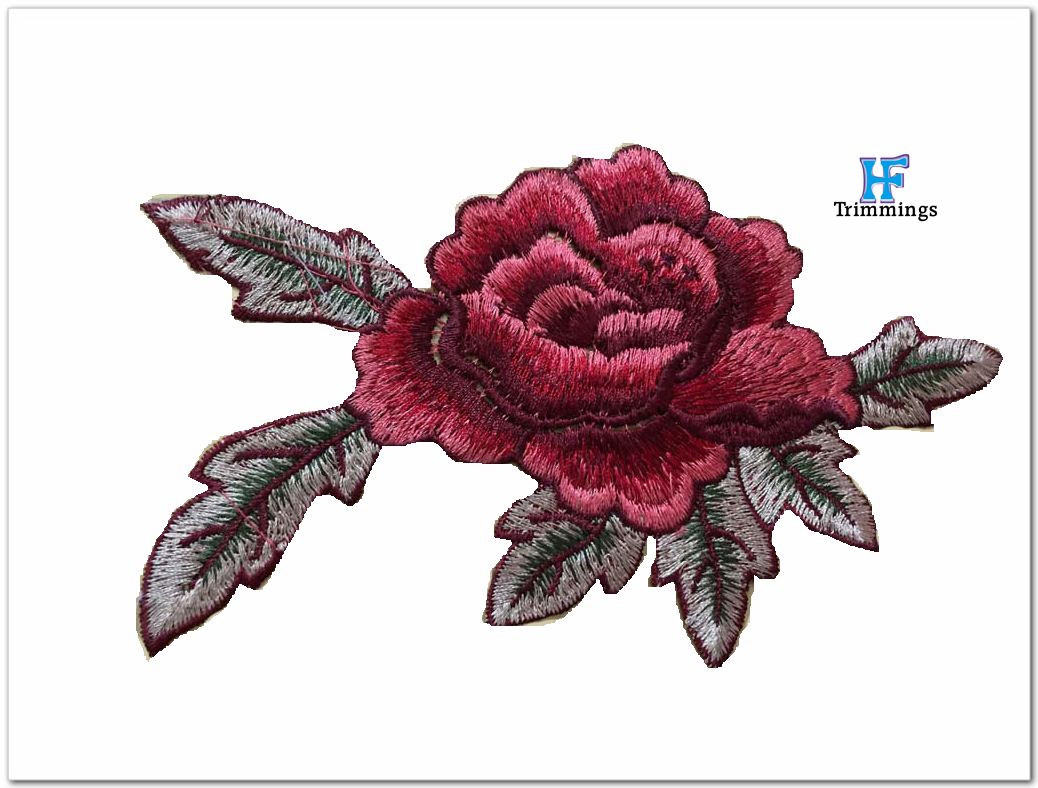 2017 fashion custom flower iron on patches