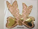 Shiny bling gold butterfly heat seal