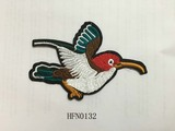 Fashion bird embroidery patch