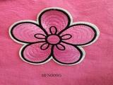 Flower shape appliqué