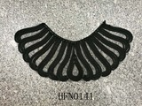 Black mesh neck trim for garment
