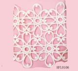 Thin net design lace trim for cloths