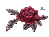 custom embroidery patches flower design