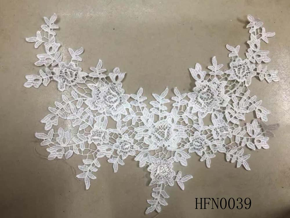 Delicate daisy design crochet trim for clothing